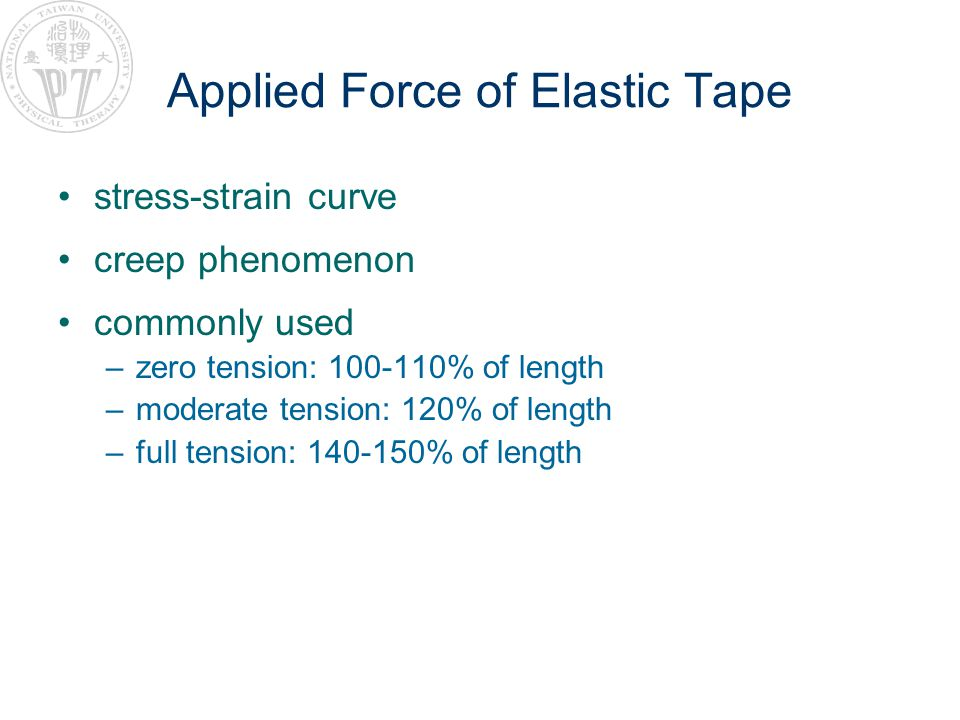 Applied Force of Elastic Tape