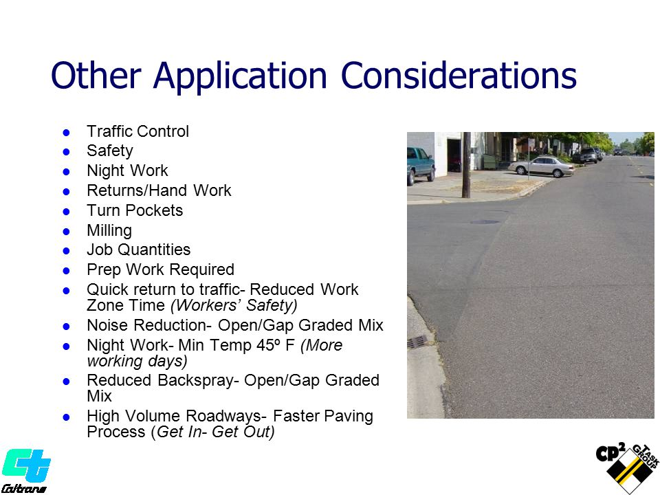Other Application Considerations