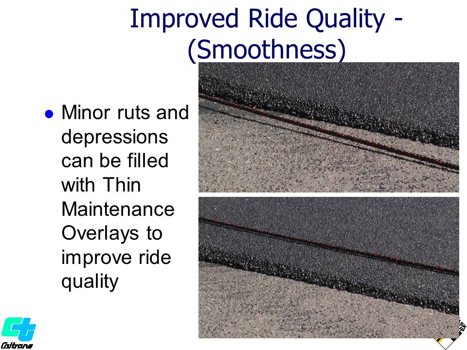 Improved Ride Quality -(Smoothness)