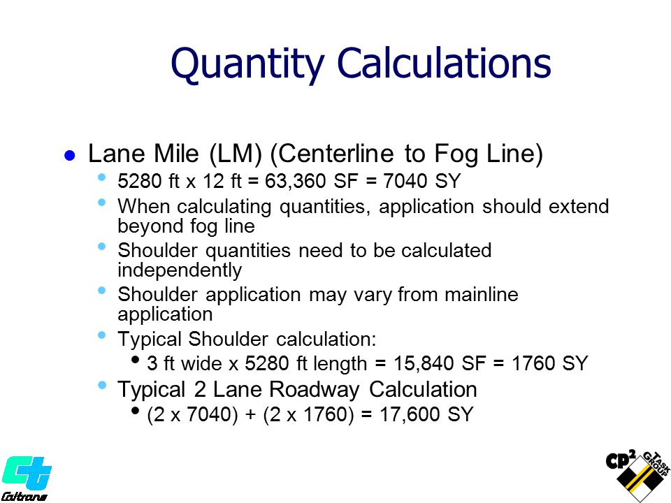 Quantity Calculations