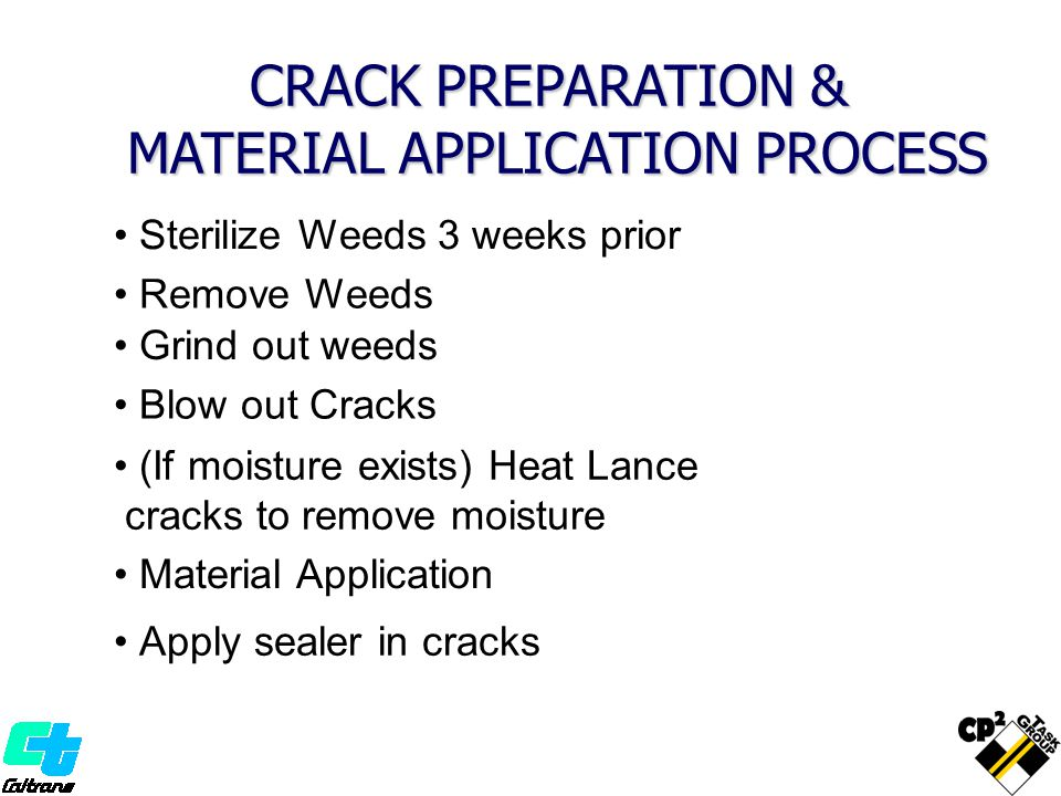 CRACK PREPARATION & MATERIAL APPLICATION PROCESS