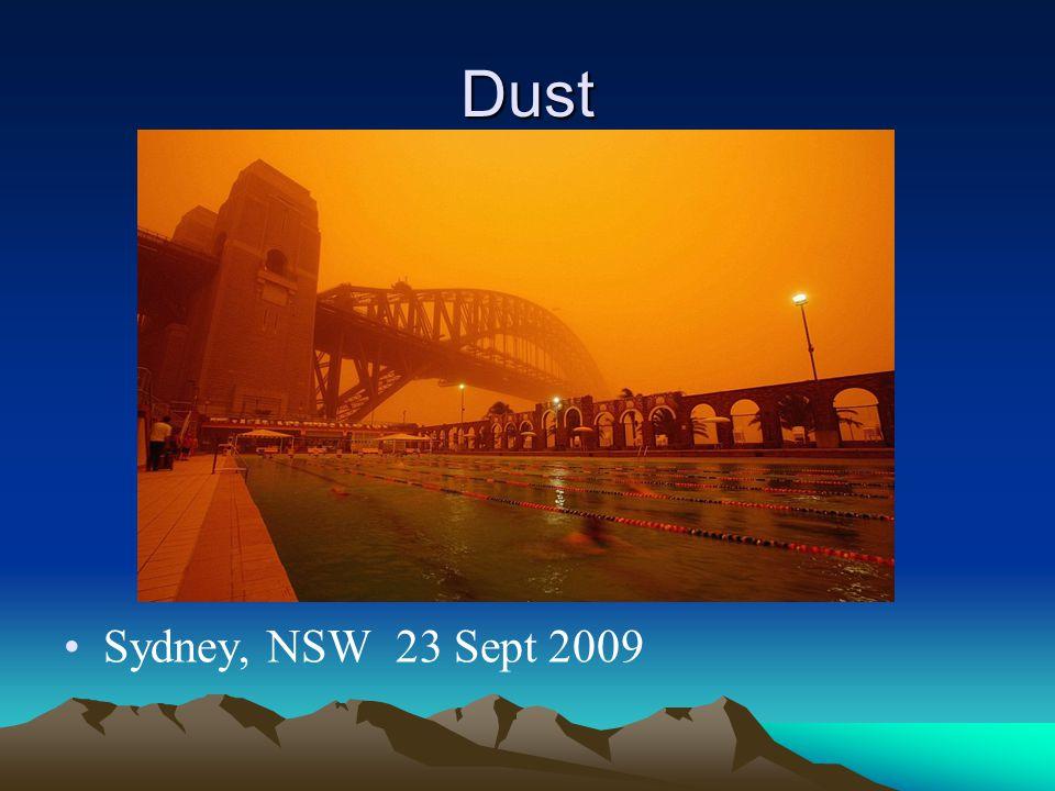 Dust Sydney, NSW 23 Sept 2009