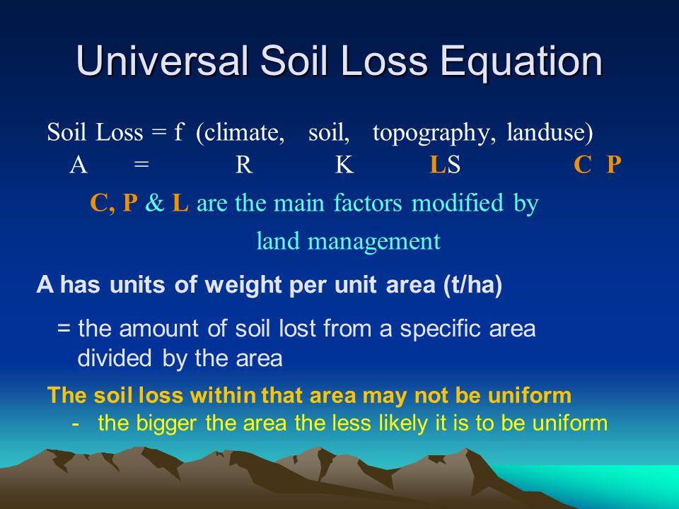 Universal Soil Loss Equation