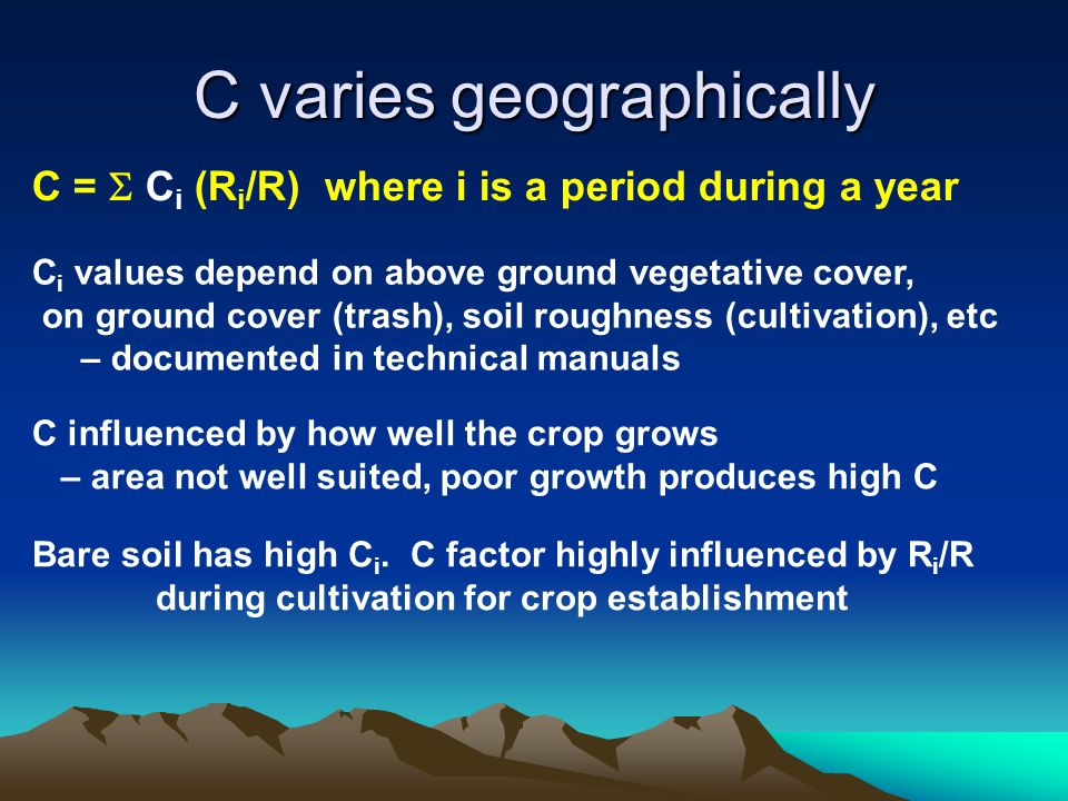 C varies geographically