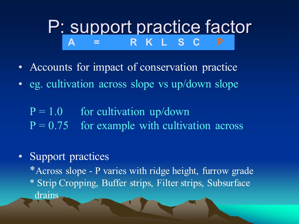 P: support practice factor