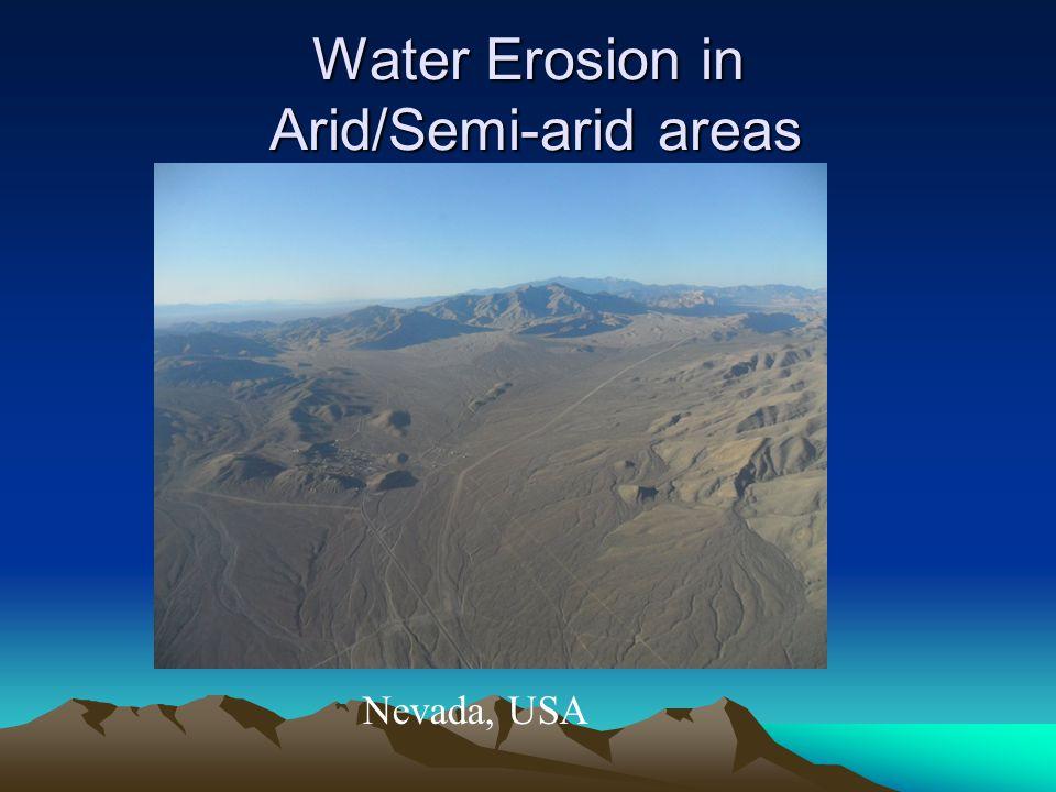 Water Erosion in Arid/Semi-arid areas