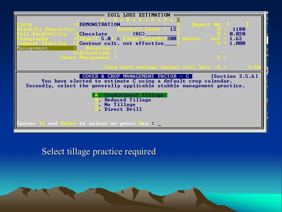 Select tillage practice required