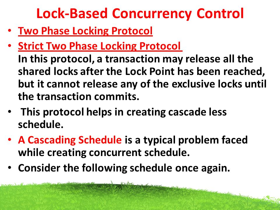 Lock-Based Concurrency Control