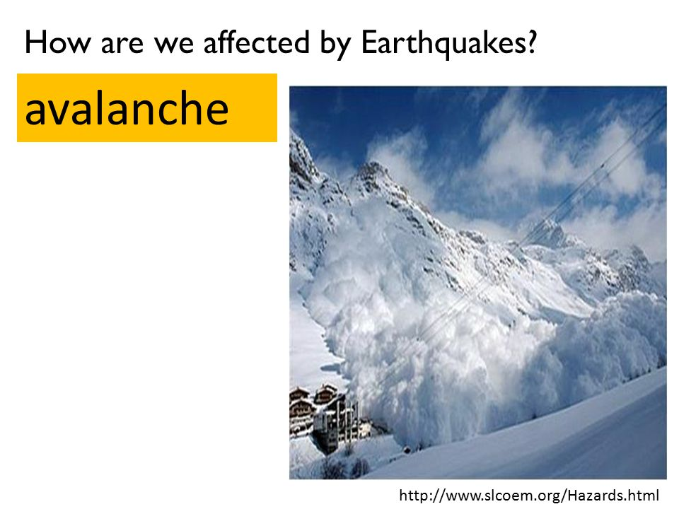 avalanche How are we affected by Earthquakes