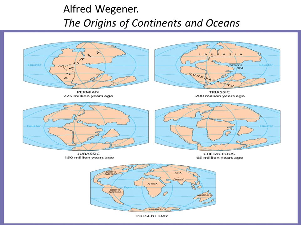 Alfred Wegener. The Origins of Continents and Oceans