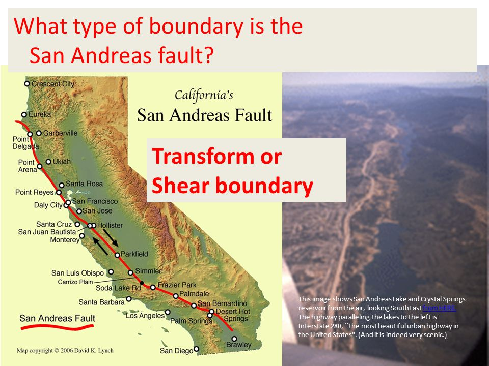 What type of boundary is the San Andreas fault