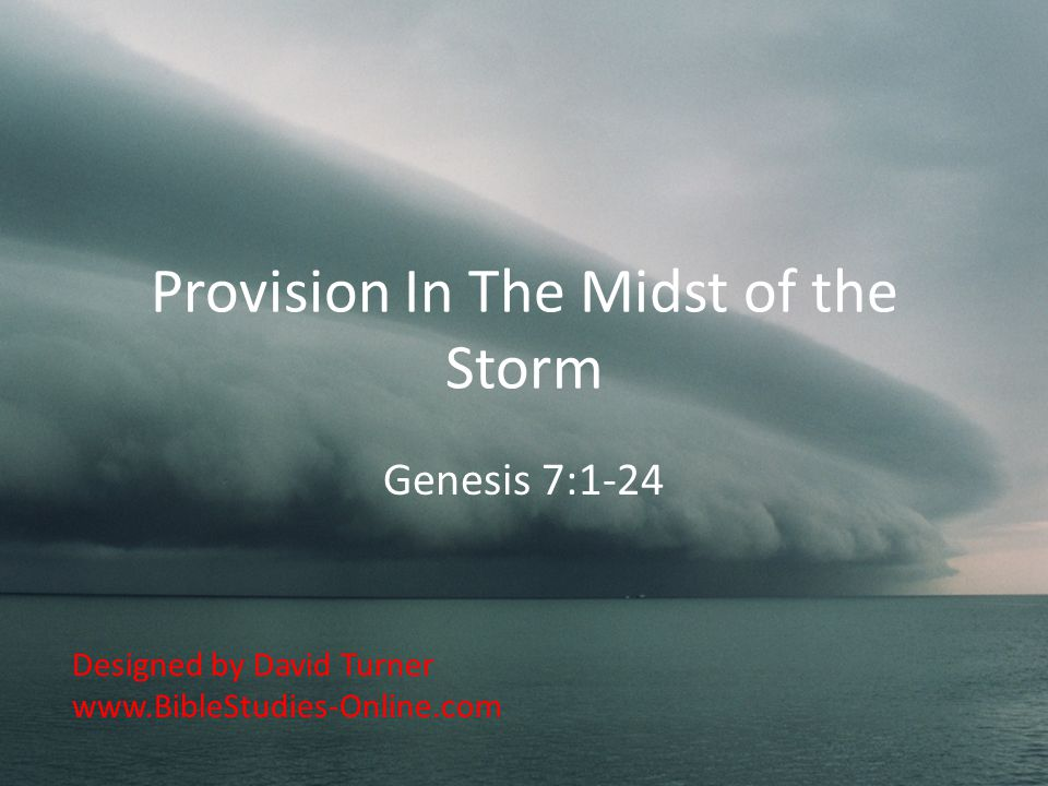 Provision In The Midst of the Storm