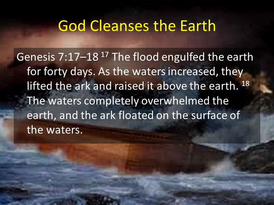 God Cleanses the Earth