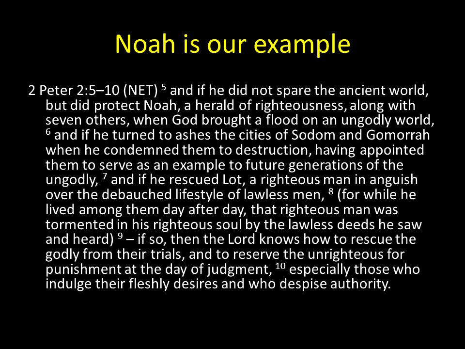 Noah is our example