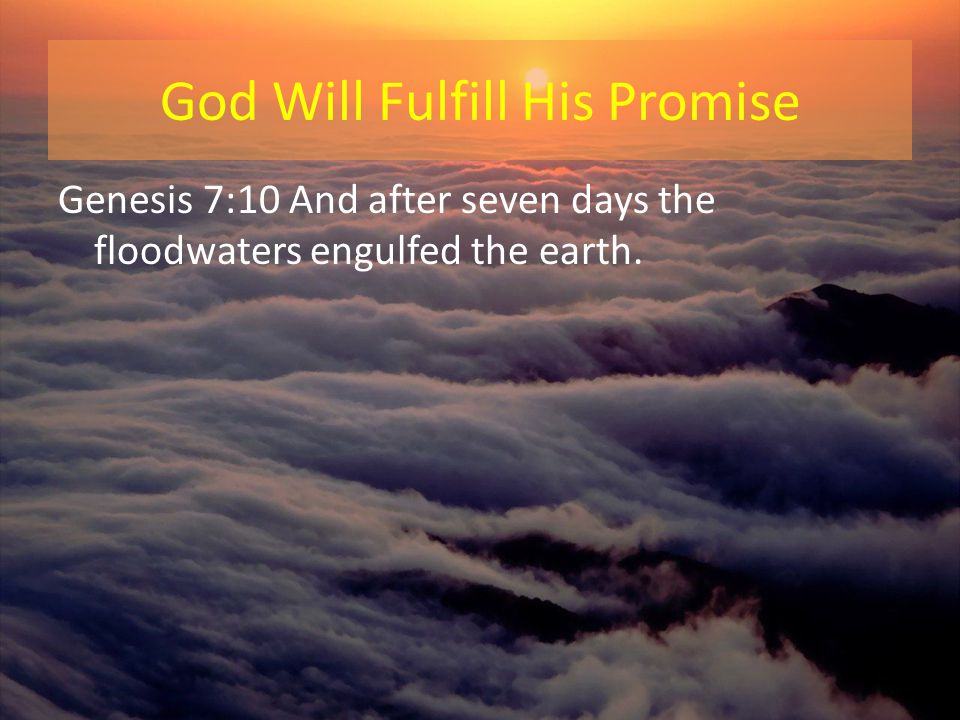 God Will Fulfill His Promise
