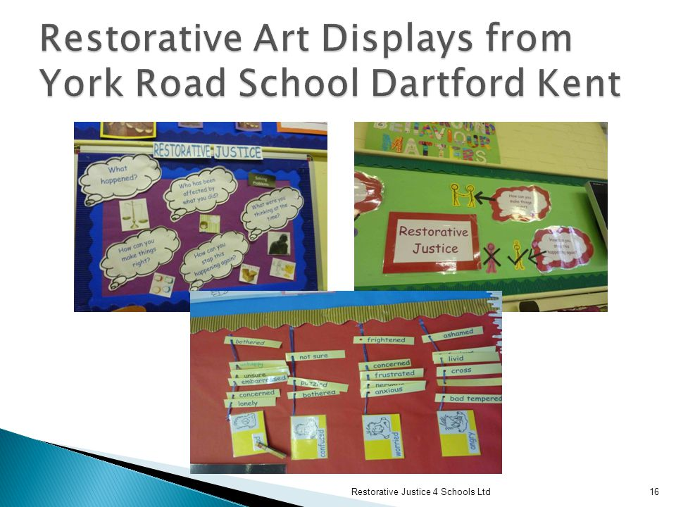 Restorative Art Displays from York Road School Dartford Kent