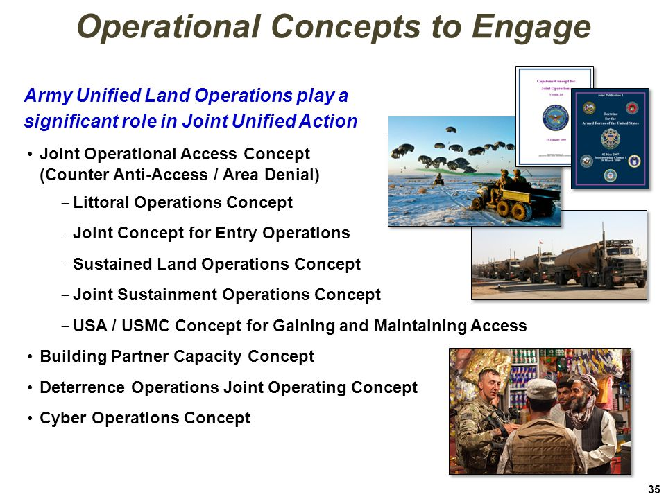 Operational Concepts to Engage