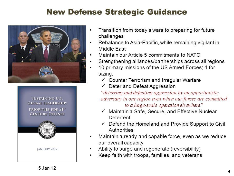 New Defense Strategic Guidance