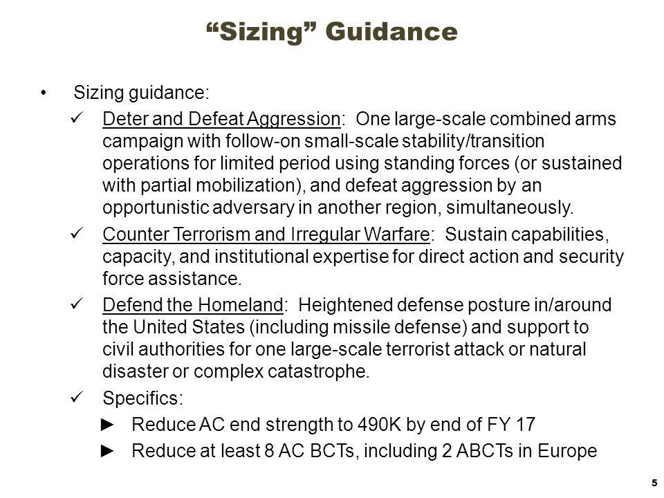 Sizing Guidance Sizing guidance:
