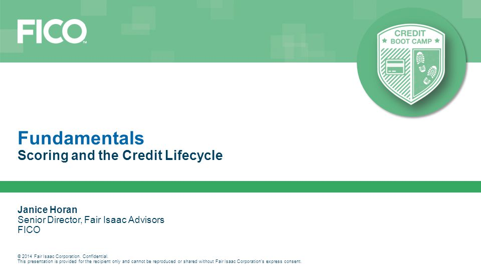 Scoring and the Credit Lifecycle