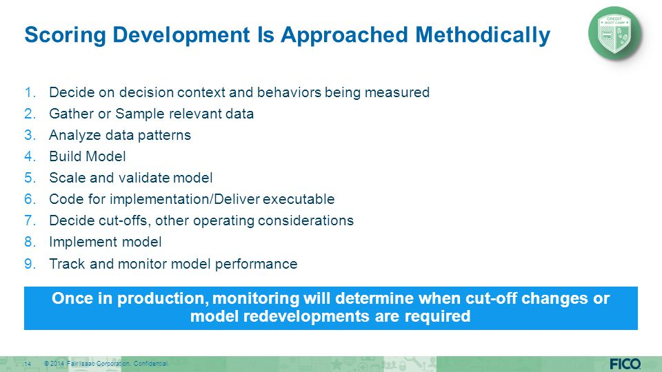 Scoring Development Is Approached Methodically