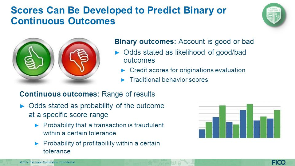 Scores Can Be Developed to Predict Binary or Continuous Outcomes
