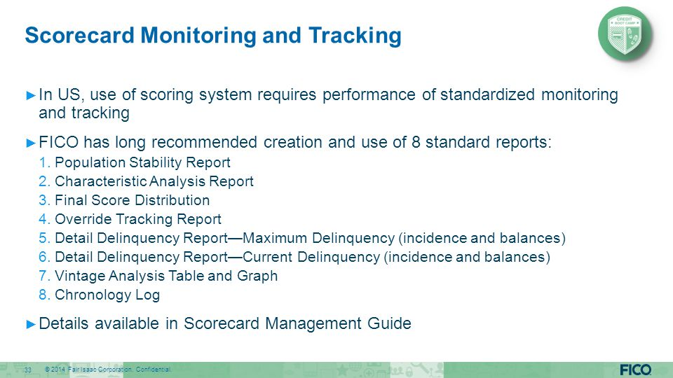 Scorecard Monitoring and Tracking
