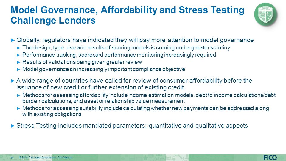 Model Governance, Affordability and Stress Testing Challenge Lenders