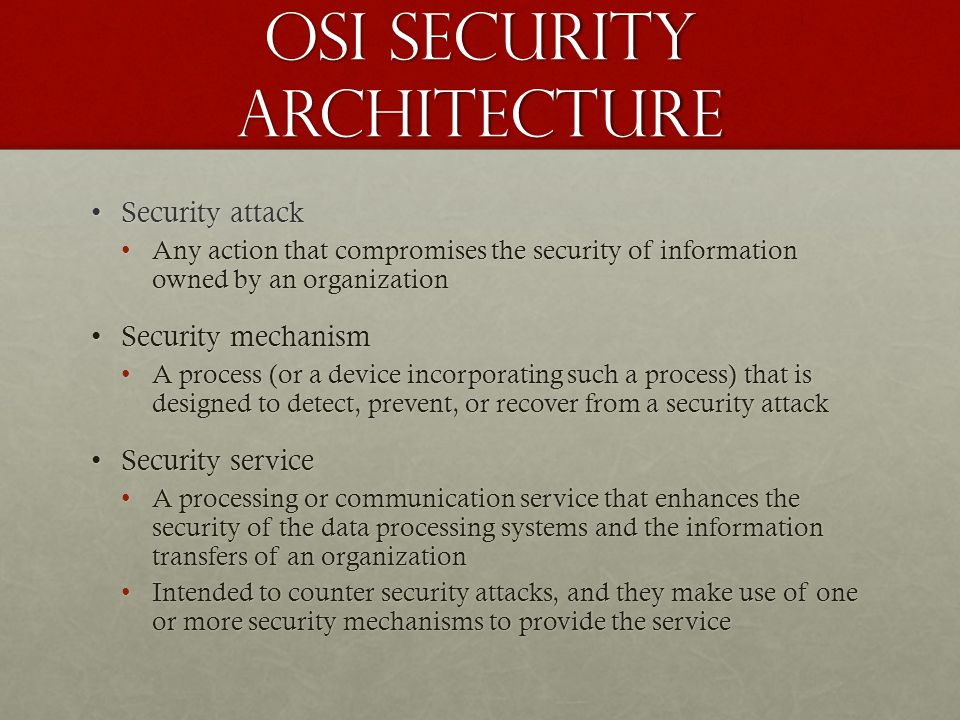 OSI Security Architecture