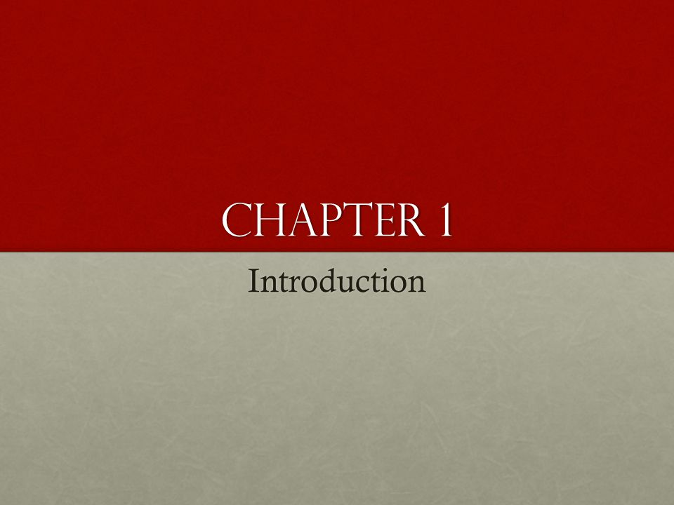 Chapter 1 Introduction. This chapter provides a general overview of the subject matter that structures.