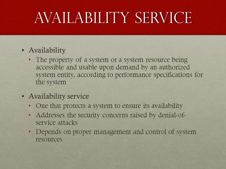 Availability service Availability Availability service