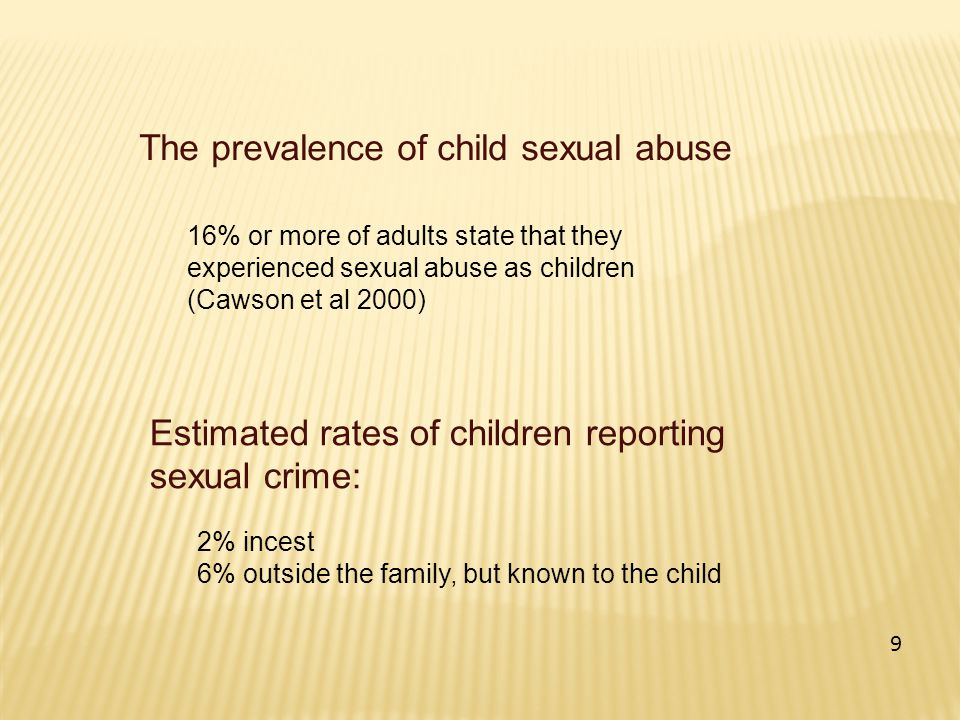 The prevalence of child sexual abuse