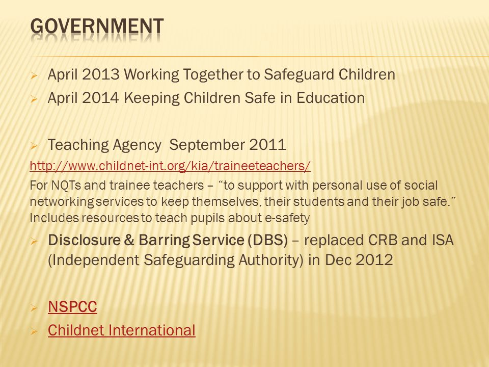Government April 2013 Working Together to Safeguard Children