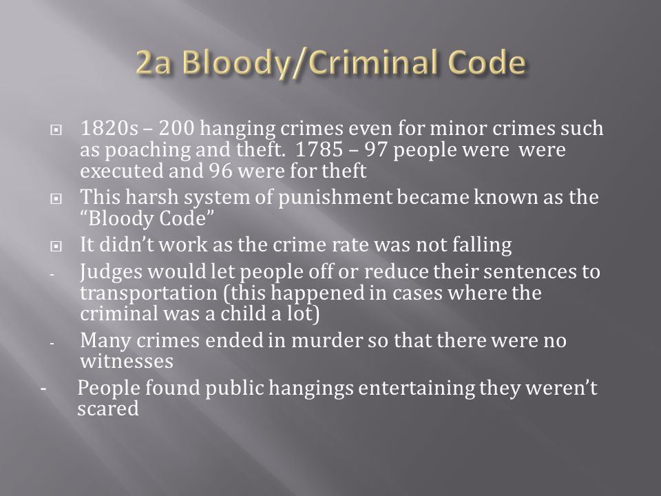 2a Bloody/Criminal Code