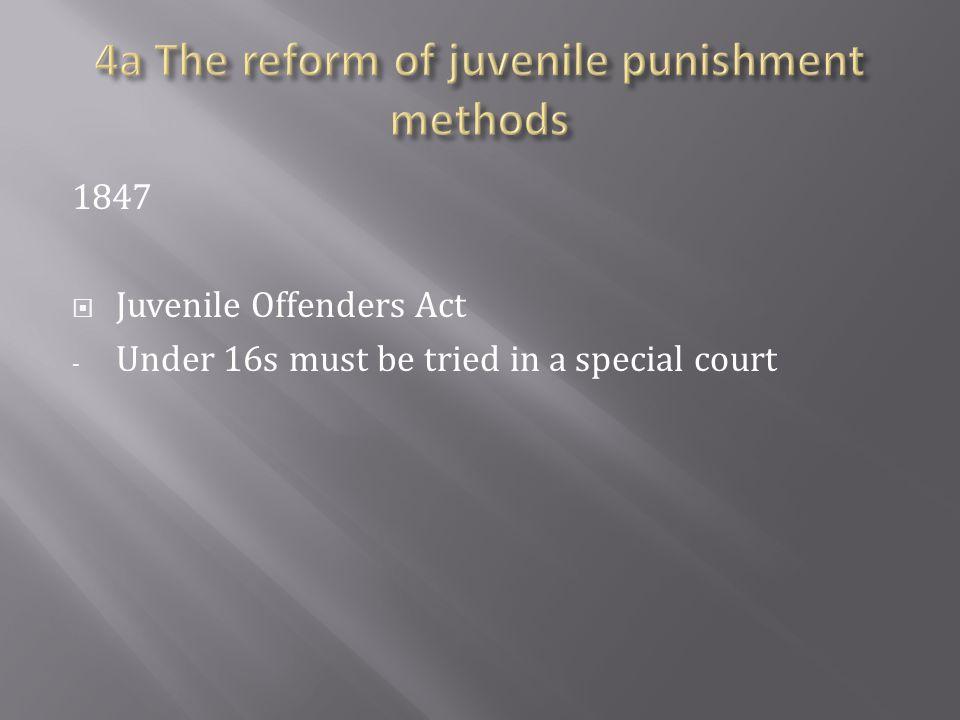 4a The reform of juvenile punishment methods