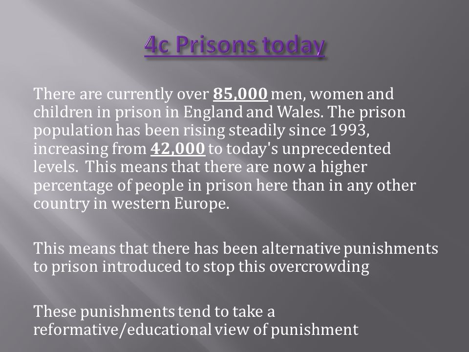 4c Prisons today