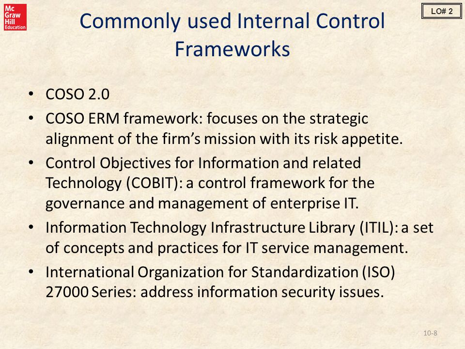 Commonly used Internal Control Frameworks