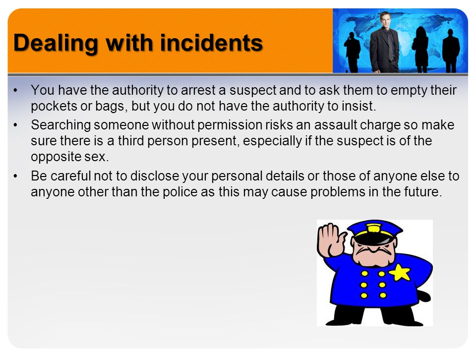 Dealing with incidents