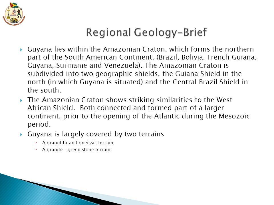 Regional Geology-Brief