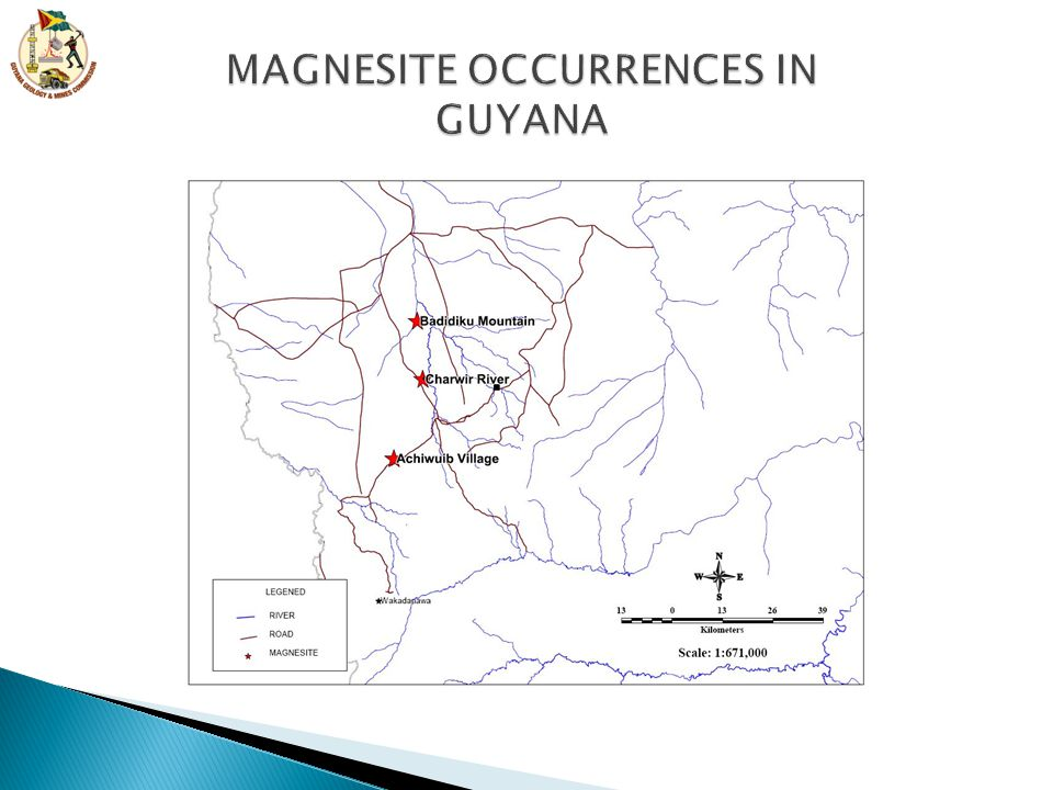 MAGNESITE OCCURRENCES IN GUYANA