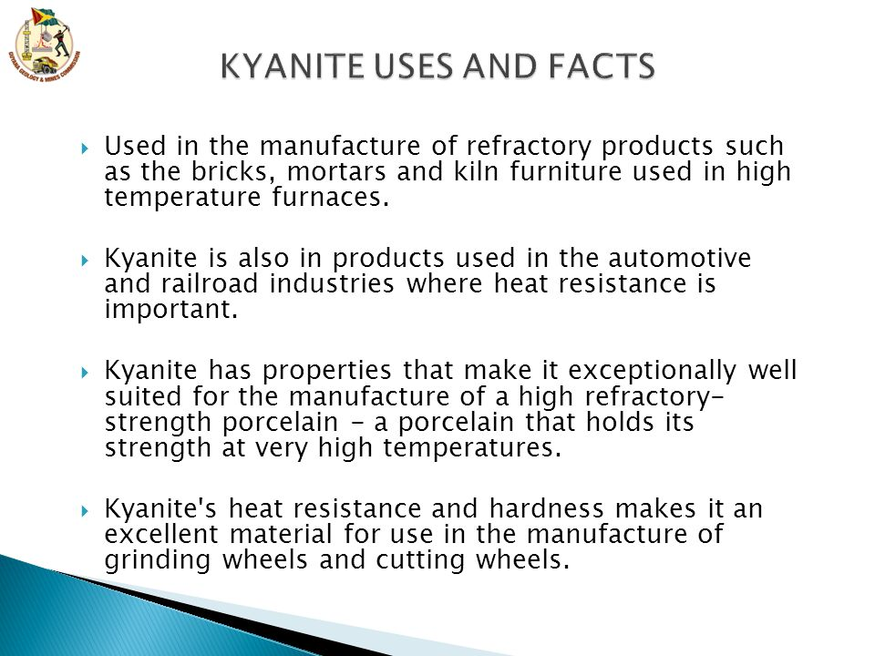 KYANITE USES AND FACTS