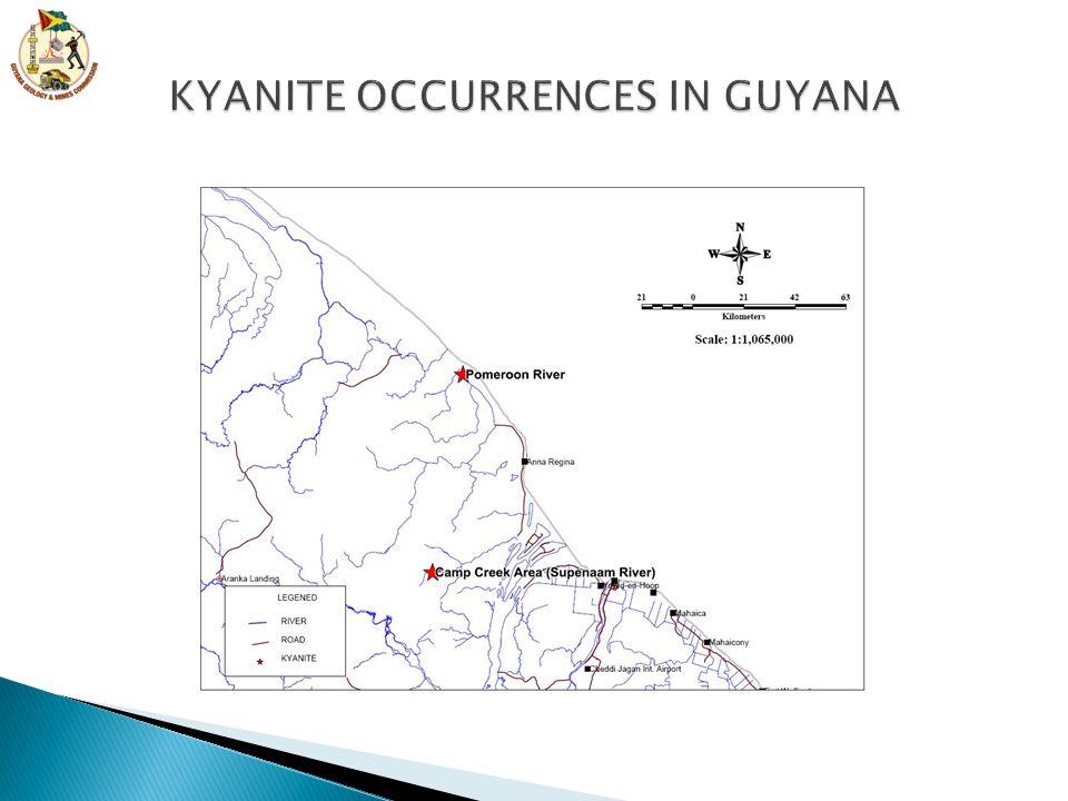 KYANITE OCCURRENCES IN GUYANA