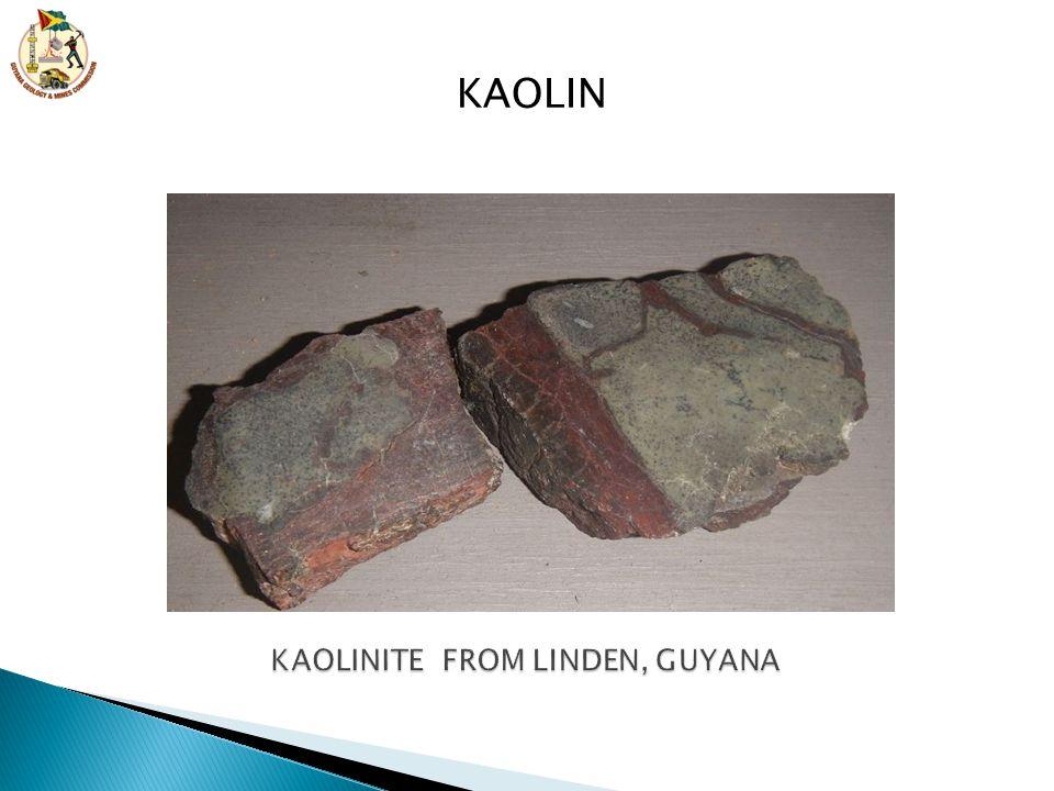 KAOLINITE FROM LINDEN, GUYANA
