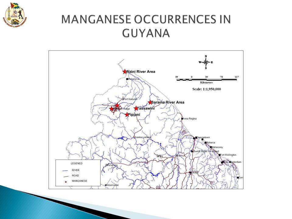 MANGANESE OCCURRENCES IN GUYANA