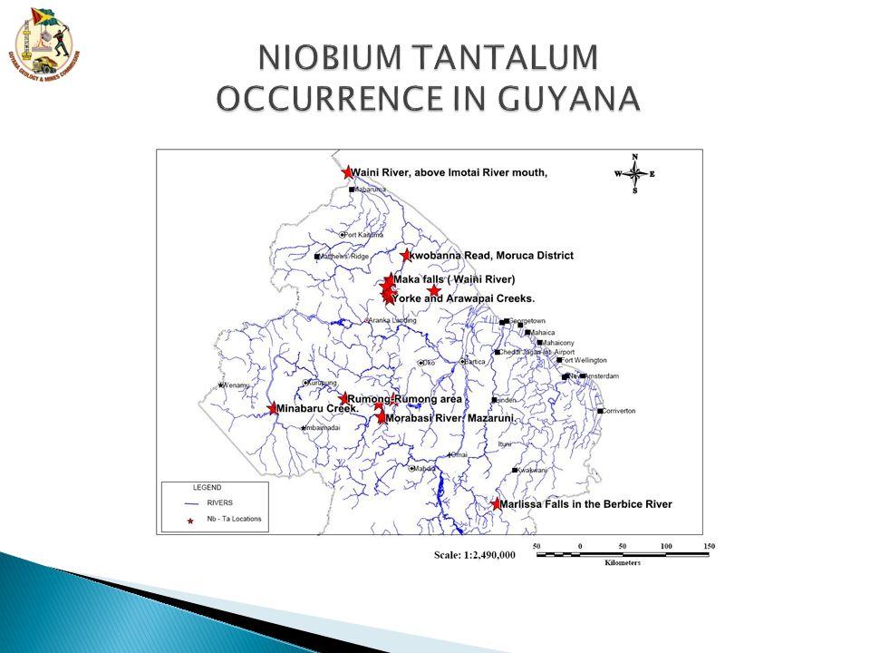 NIOBIUM TANTALUM OCCURRENCE IN GUYANA