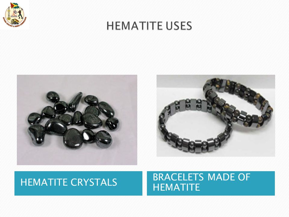 HEMATITE USES HEMATITE CRYSTALS BRACELETS MADE OF HEMATITE