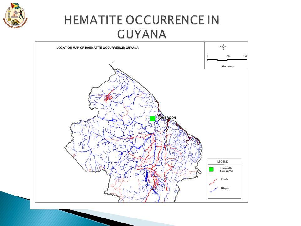 HEMATITE OCCURRENCE IN GUYANA