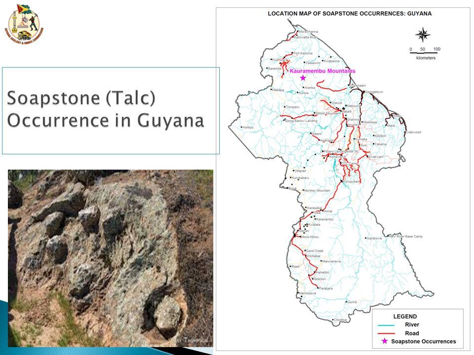 Soapstone (Talc) Occurrence in Guyana