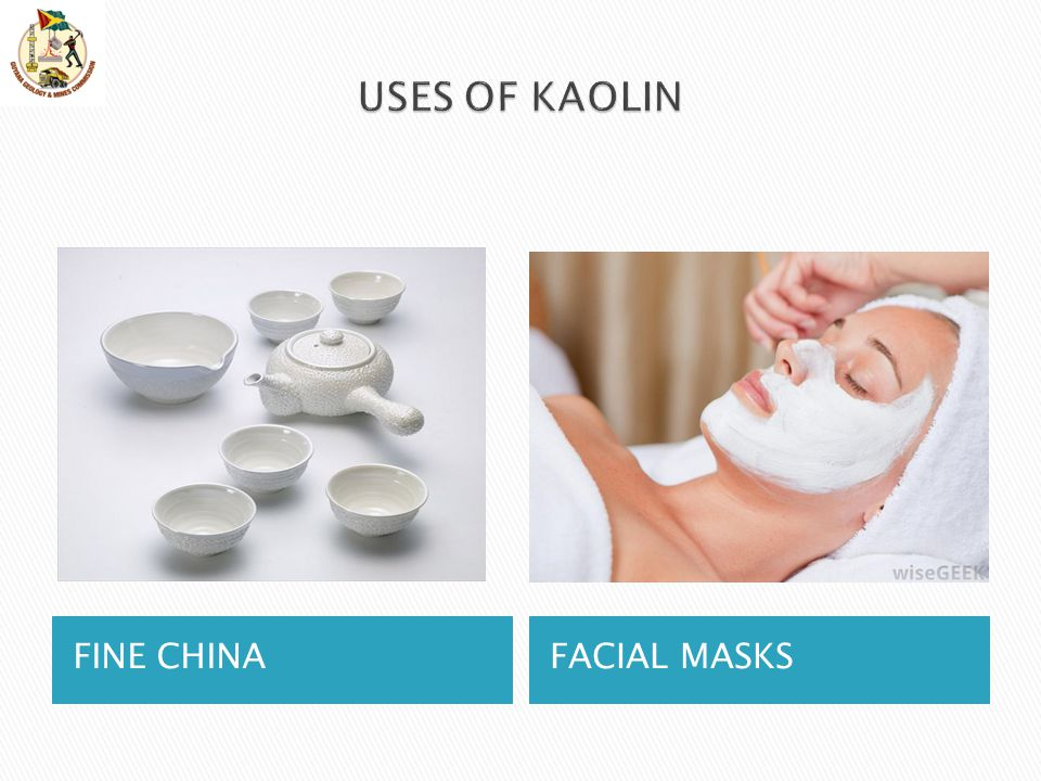 USES OF KAOLIN FINE CHINA FACIAL MASKS