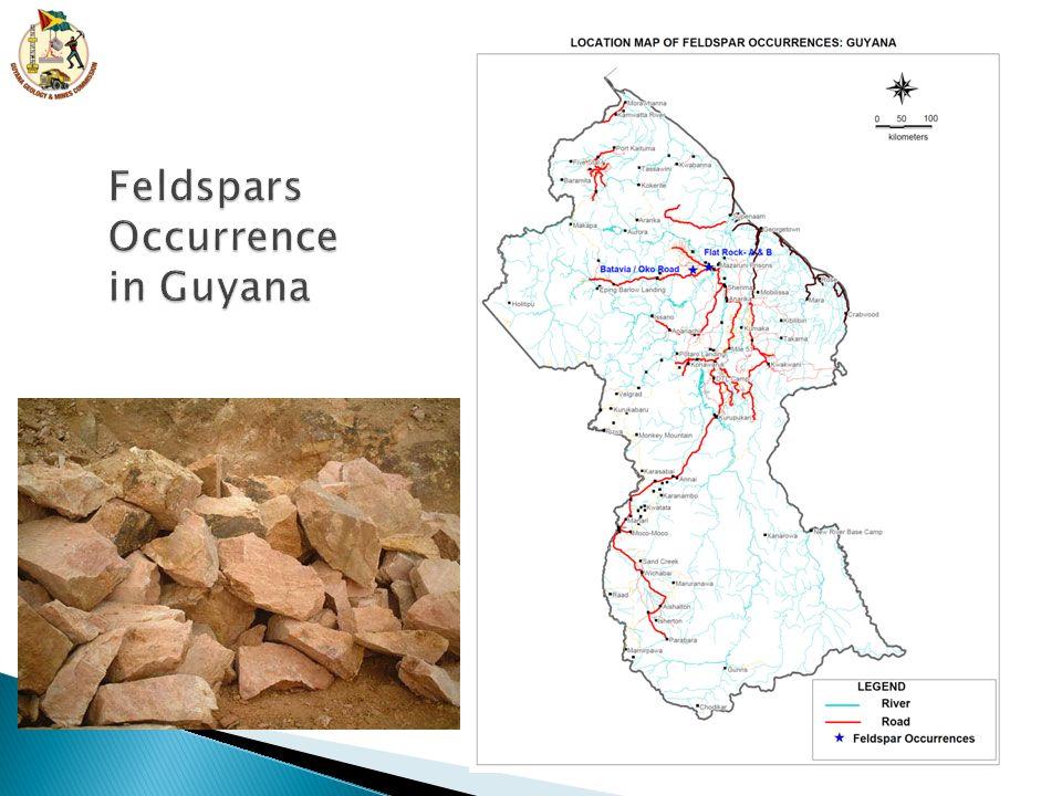 Feldspars Occurrence in Guyana